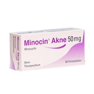 Anti-Akne Antibiotikum Minocin Packung